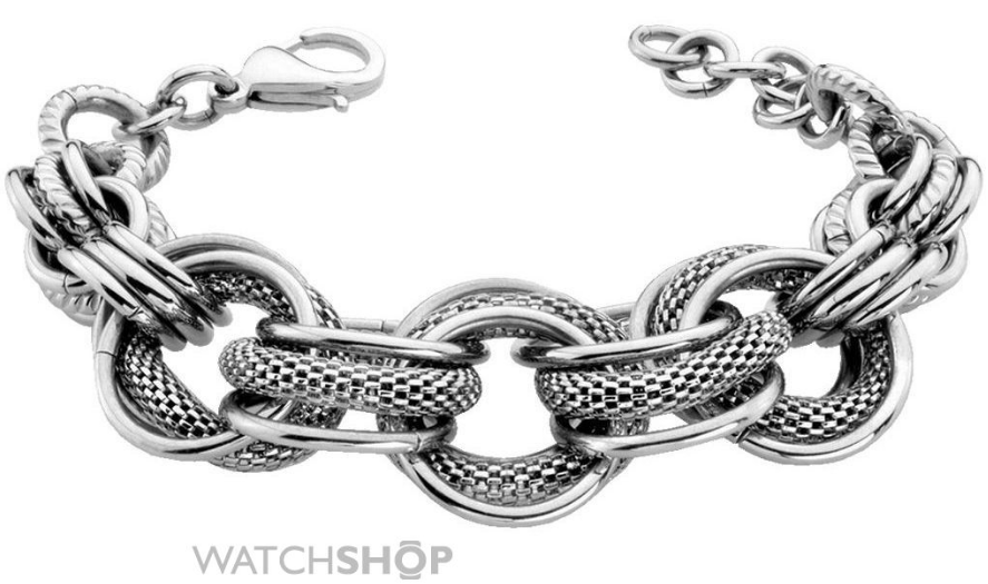 ladies pvd silver plated sloane bracelet