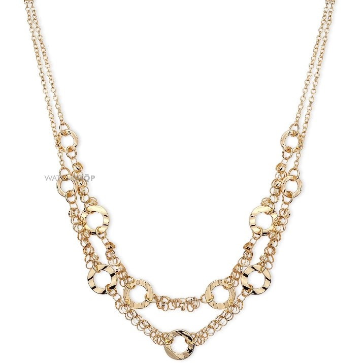 anne klein double layer necklace