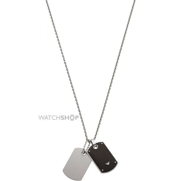 Emporio Armani men's stainless-steel necklace