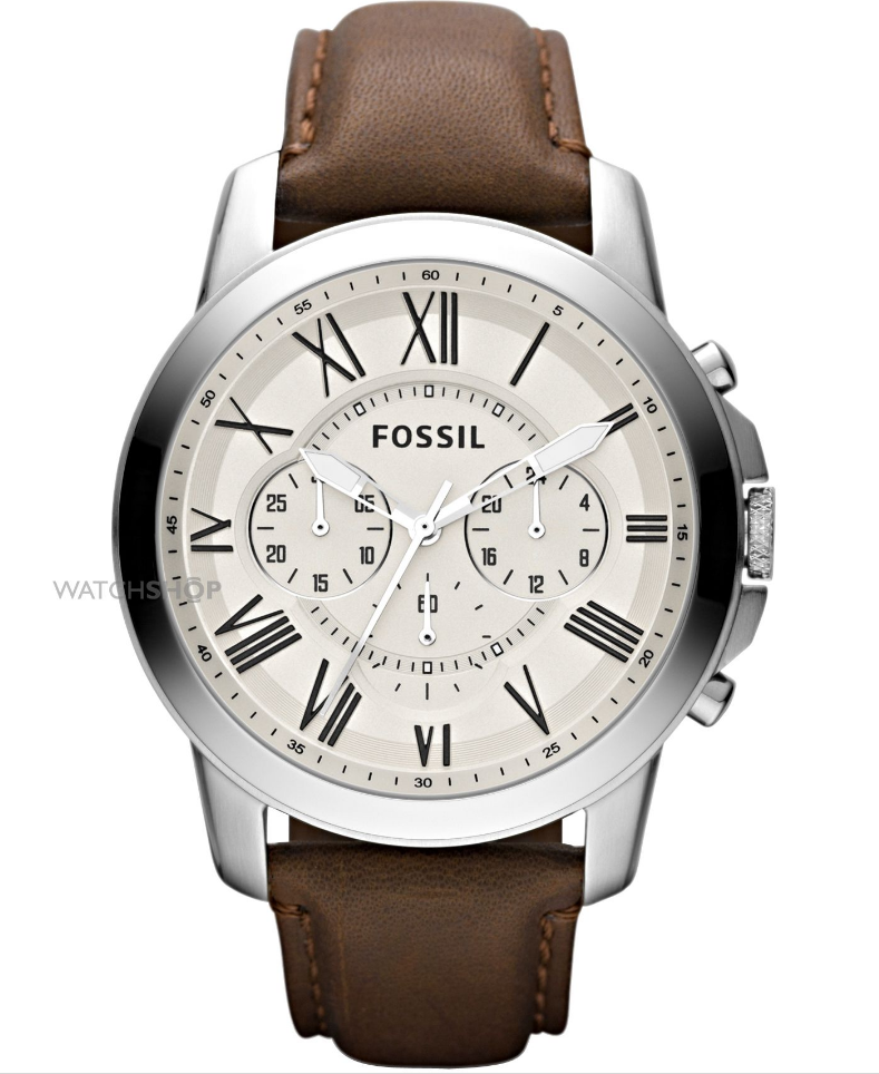 fossil mens grant chronograph watch