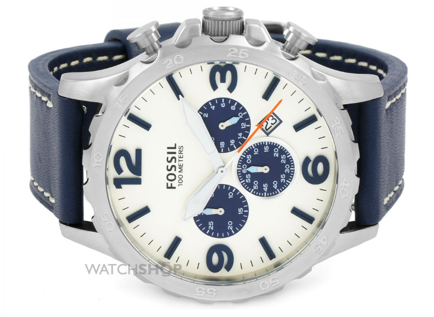 fossil mens nate chronograph watch header
