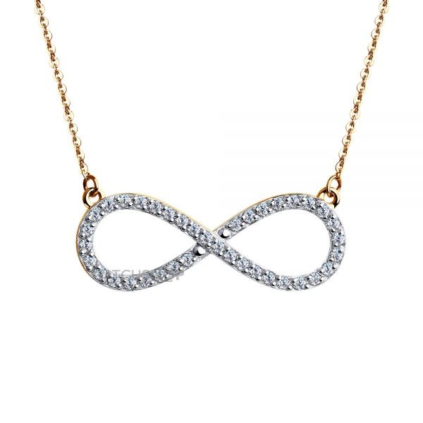 14 Carat Gold Lovely Infinity necklace