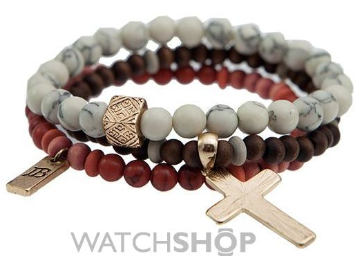 Icon Brand Jewellery Men's Gold Plated Try Bracelet
