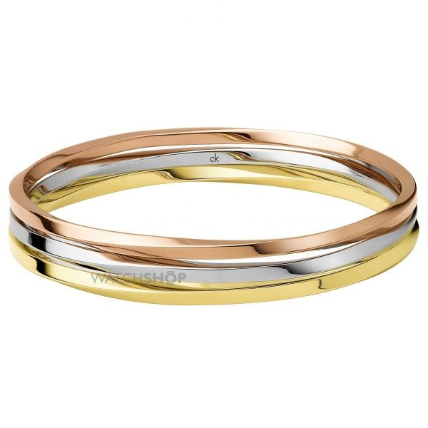 Calvin Klein Jewellery Ladies' Two-tone steel/gold plate Exclusive Bangle Regular