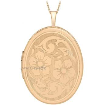 Jewellery Essentials Ladies 9ct Rose Gold 20mm Flower Locket AJ-14010042