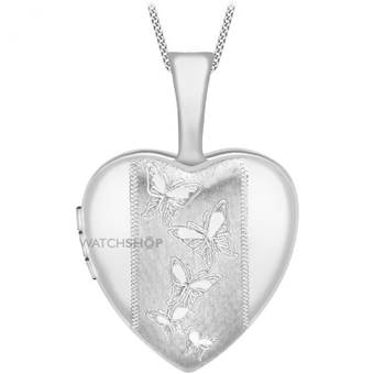 Jewellery Essentials Ladies 9ct White Gold 12mm Heart Locket AJ-14010048