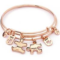 Chrysalis Ladies' PVD rose plating TWO OF A KIND BEST FRIENDS EXPANDABLE BANGLE