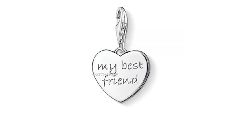 Thomas Sabo Jewellery Ladies' Sterling Silver Charm Club My Best Friend Charm