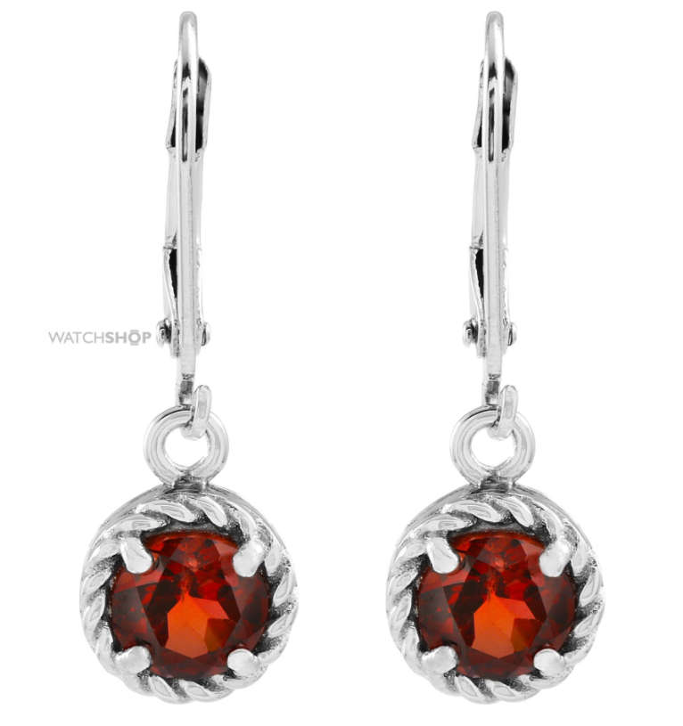 Gemstone Jewellery Ladies' Sterling Silver Garnet Earrings