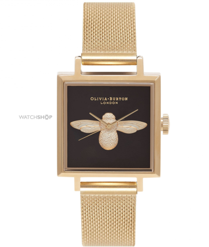 Olivia Burton Ladies' Animal Motif 3D Bee Square Dial Watch