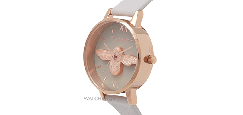 Olivia Burton Ladies' Animal Motif 3D Bee Midi Dial Watch