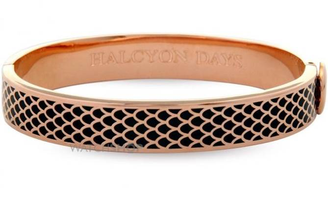 Halcyon Days rose gold plated Salamander bangle