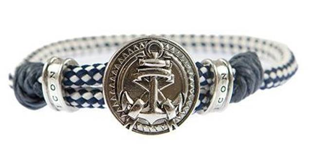 Icon Brand Silver-Plated Merchant Anchor cuff bracelet