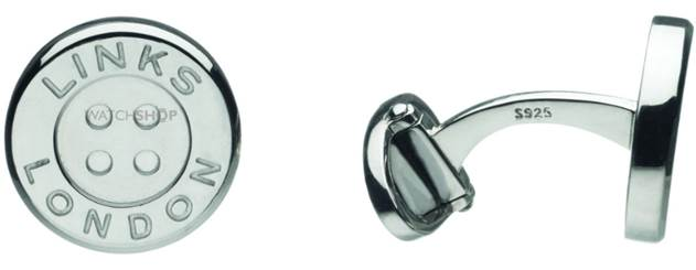 Links of London Sterling Silver Button T-Bar cufflinks