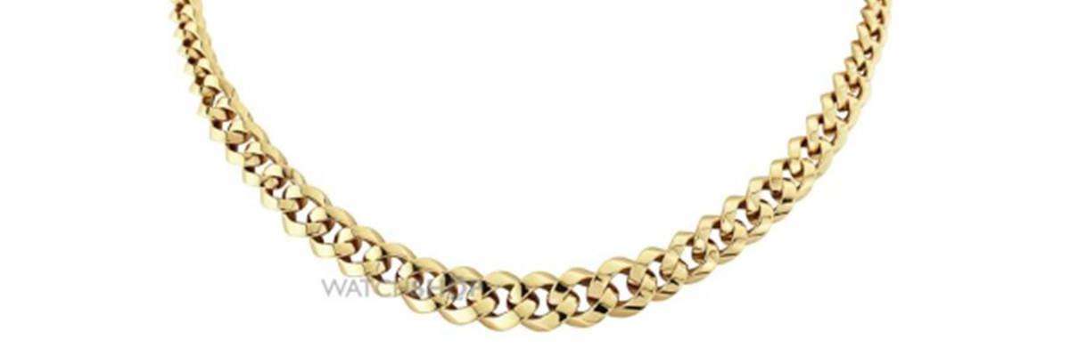 9 Carat Gold Jewellery Fancy Link Necklace