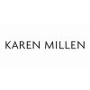 Ladies Karen Millen Rose Gold Plated Art Glass Flower Bangle KMJ922-24-02