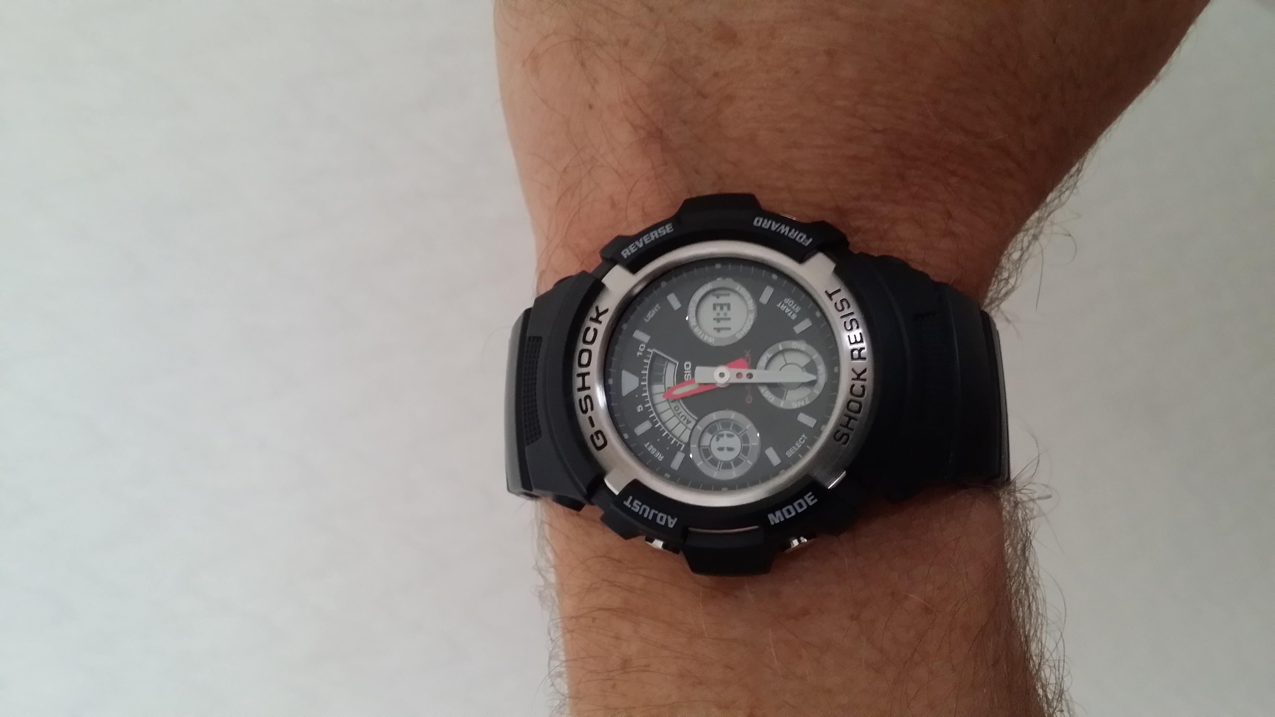 2f26154a59d3 Gents Casio G-Shock Alarm Chronograph Watch (AW-590-1AER ...