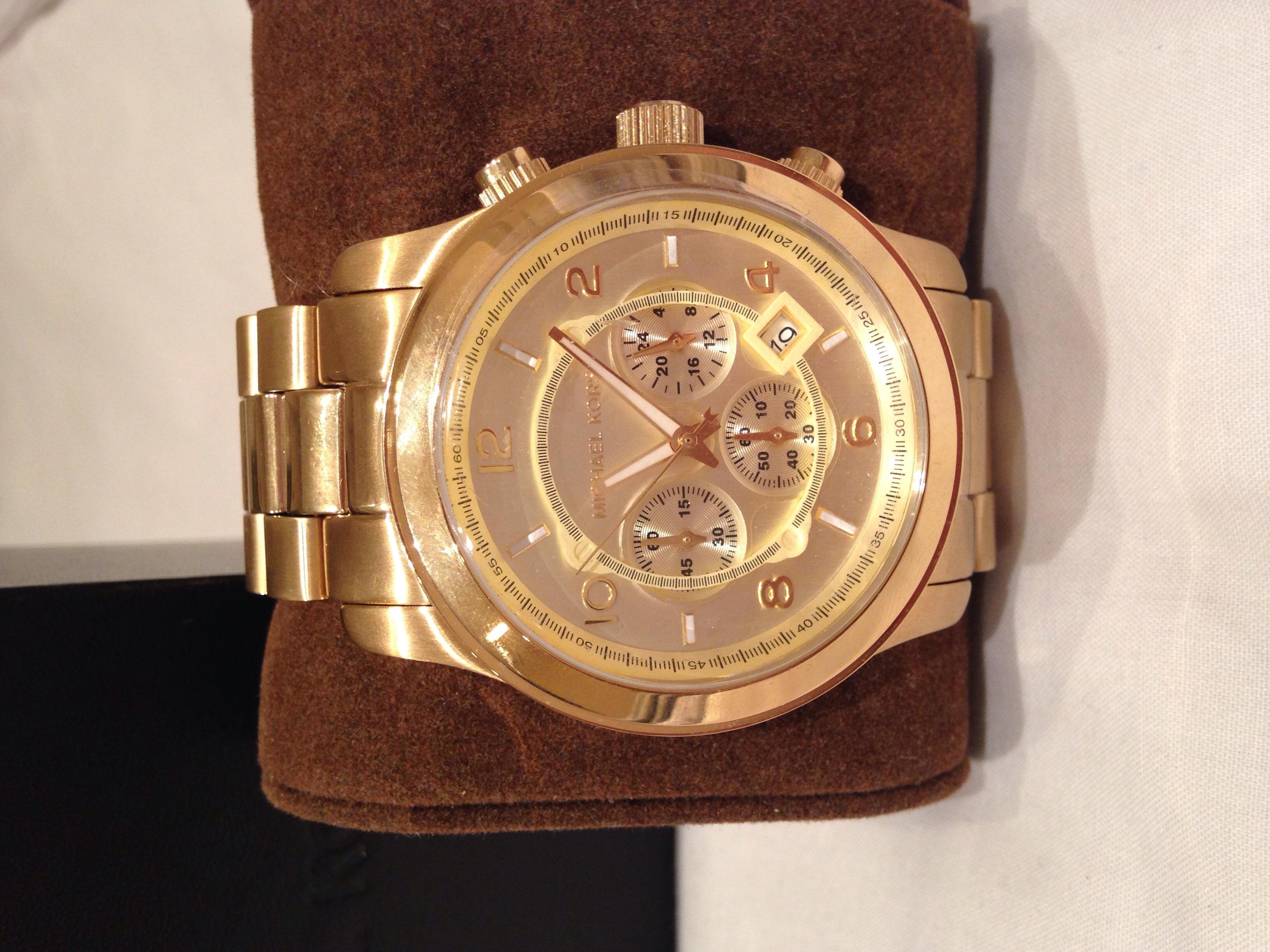 Mens Michael Kors Runway Chronograph Watch Mk8077