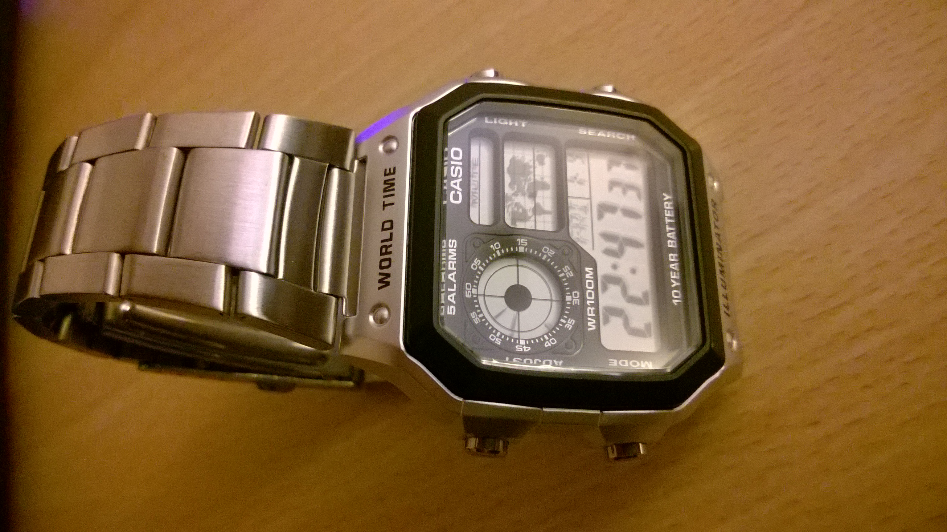 Gents Casio World Time Alarm Chronograph Watch Ae 1200whd 1avef 1000wd Original