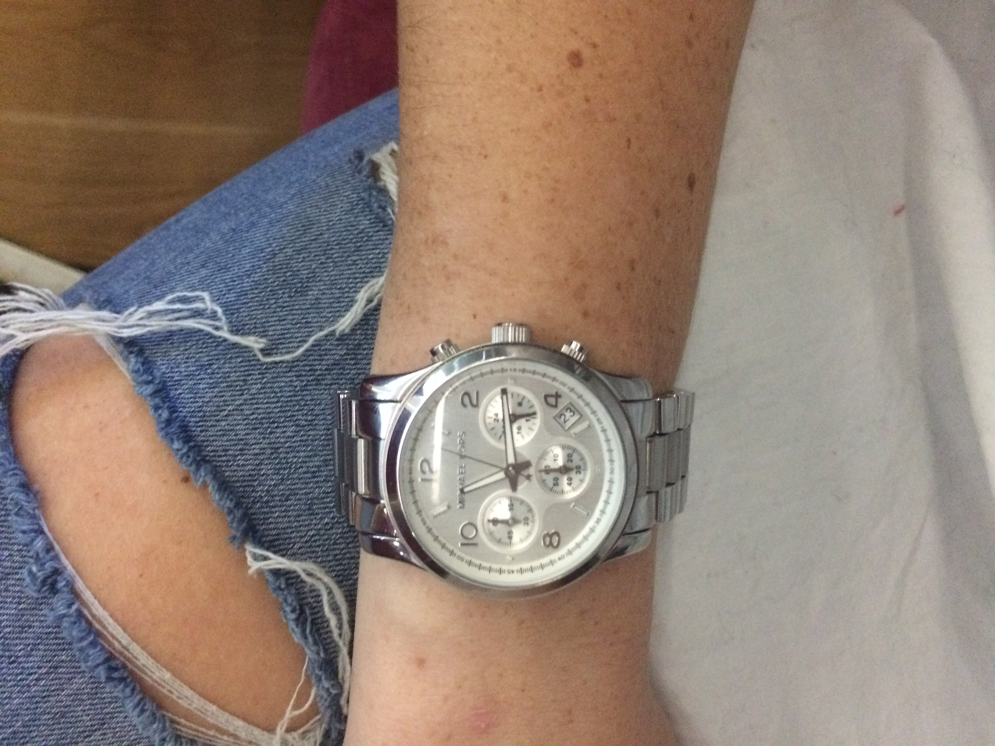 Ladies Michael Kors Runway Chronograph Watch Mk5076 Watchshop