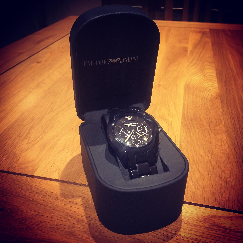 75ba8cd7952 Gents Emporio Armani Chronograph Watch (AR1400)   WatchShop.com™
