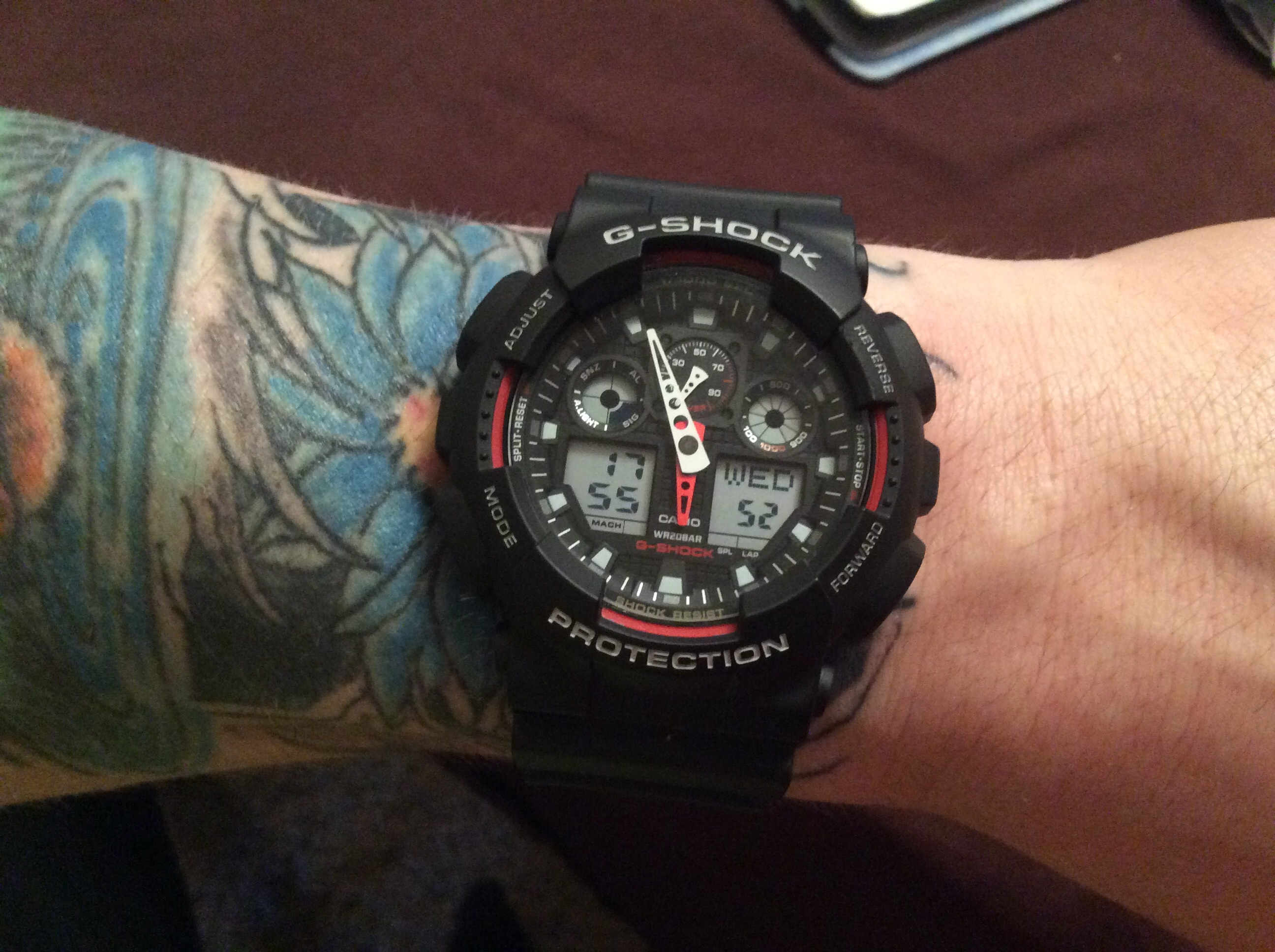 fdcb3685ebfa My wife bought me a G-SHOCK GA-100 for Valentines Day