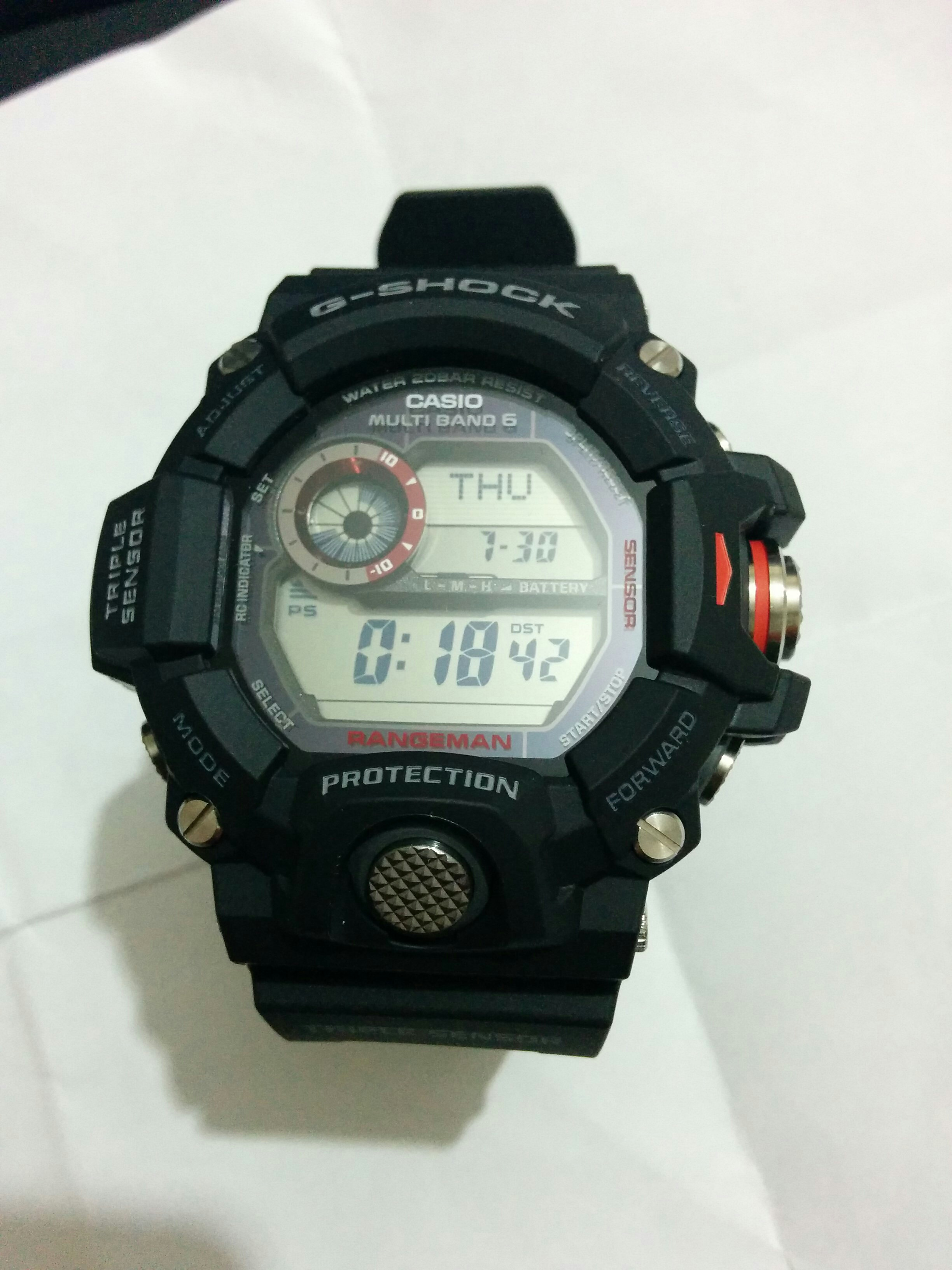 Gents Casio G Shock Rangeman Alarm Chronograph Watch Gw 9400 1er Gshock Original 9400bj 1jf I Really Love This So Thought Would Take Some Time To Review It And Mention Additional Features That Potential Buyers Might Find Useful Including