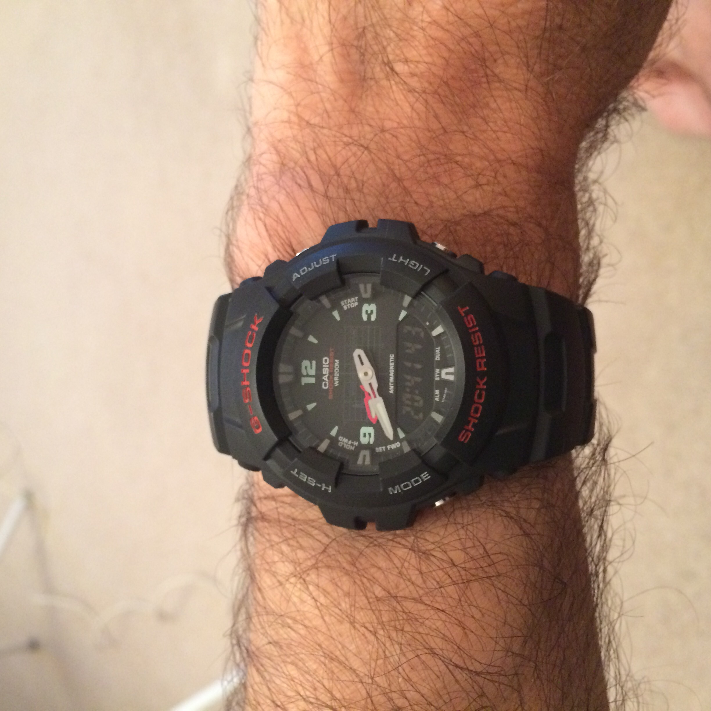 Montre Chronographe Homme Casio G Shock Antimagnetic G 100  gXPcB