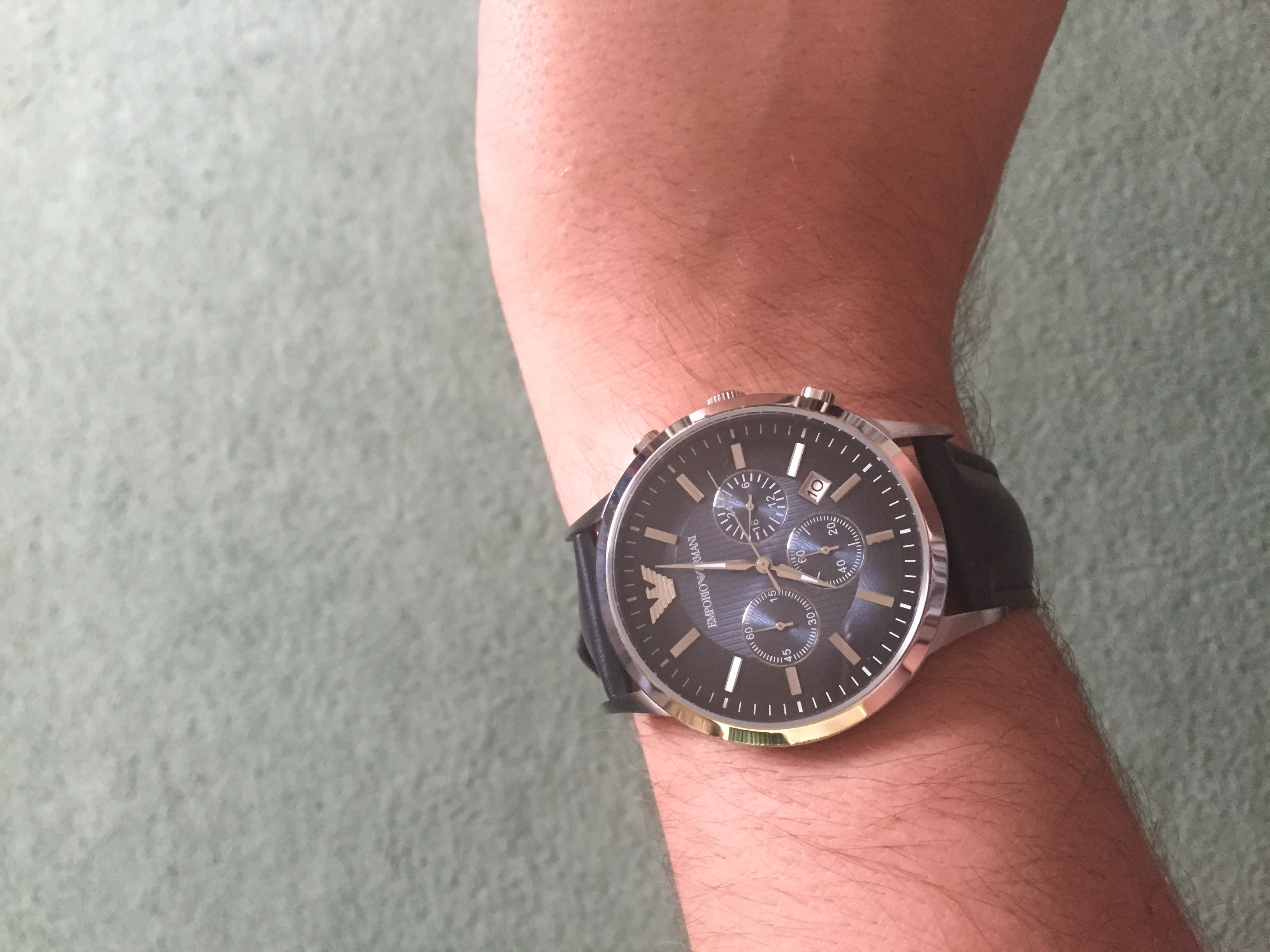 aedd440522f Ordered this along with another watch and have to say this one has blown  the other out of the water! The blue leather strap and blue face are  perfect and ...