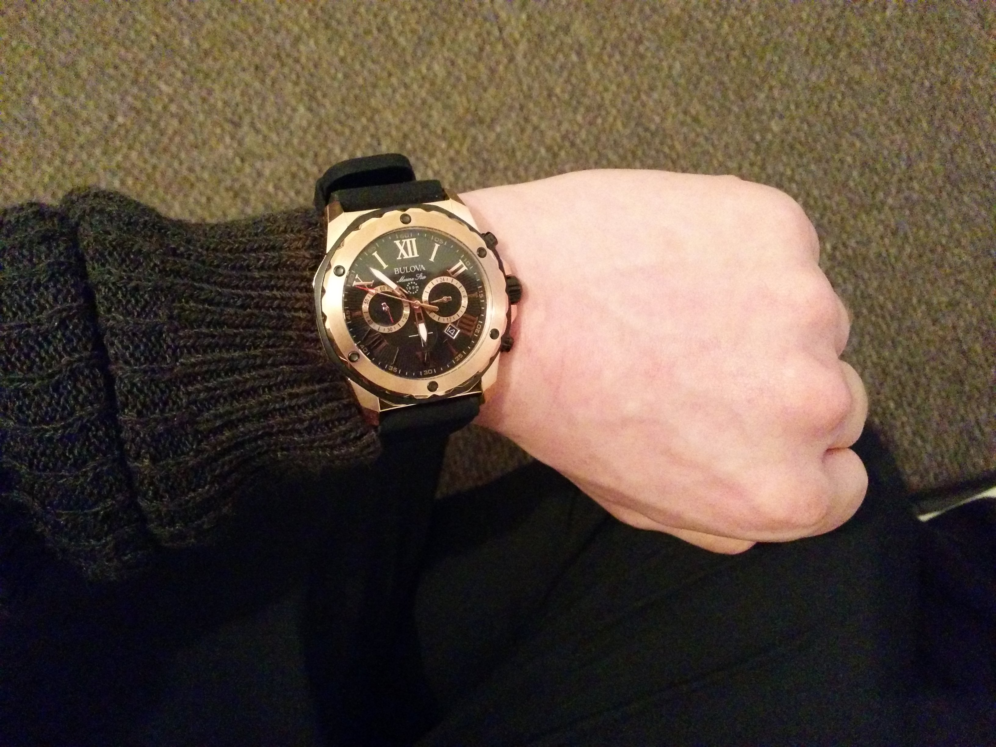 1971ca962 Pictures dont do justice to this masterpiece which lends itself exquisitely  to the rose gold and black contrast. Its intricate detail is testament to  ...