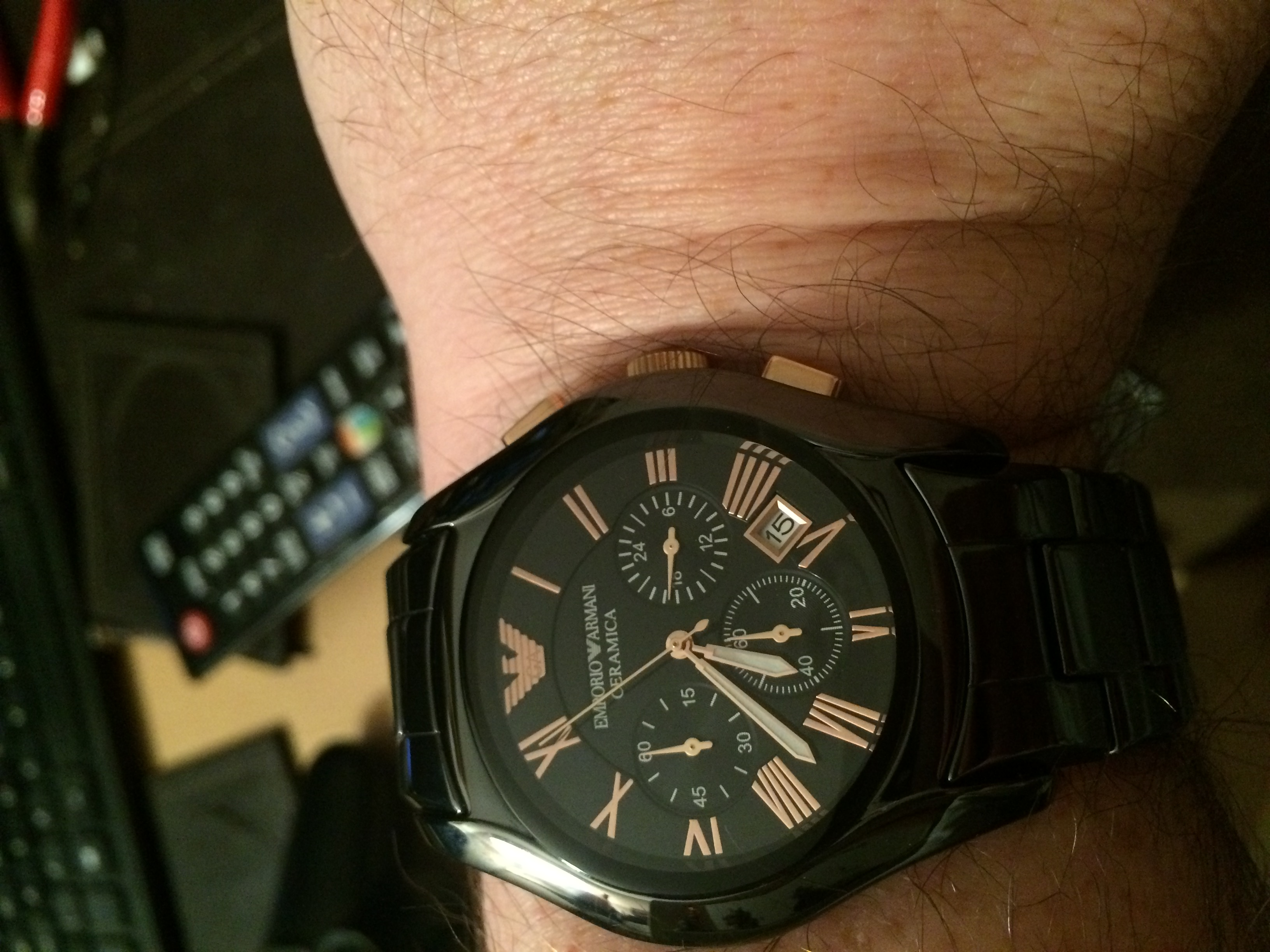 9cc60a69c6a Gents Emporio Armani Chronograph Watch (AR1410)