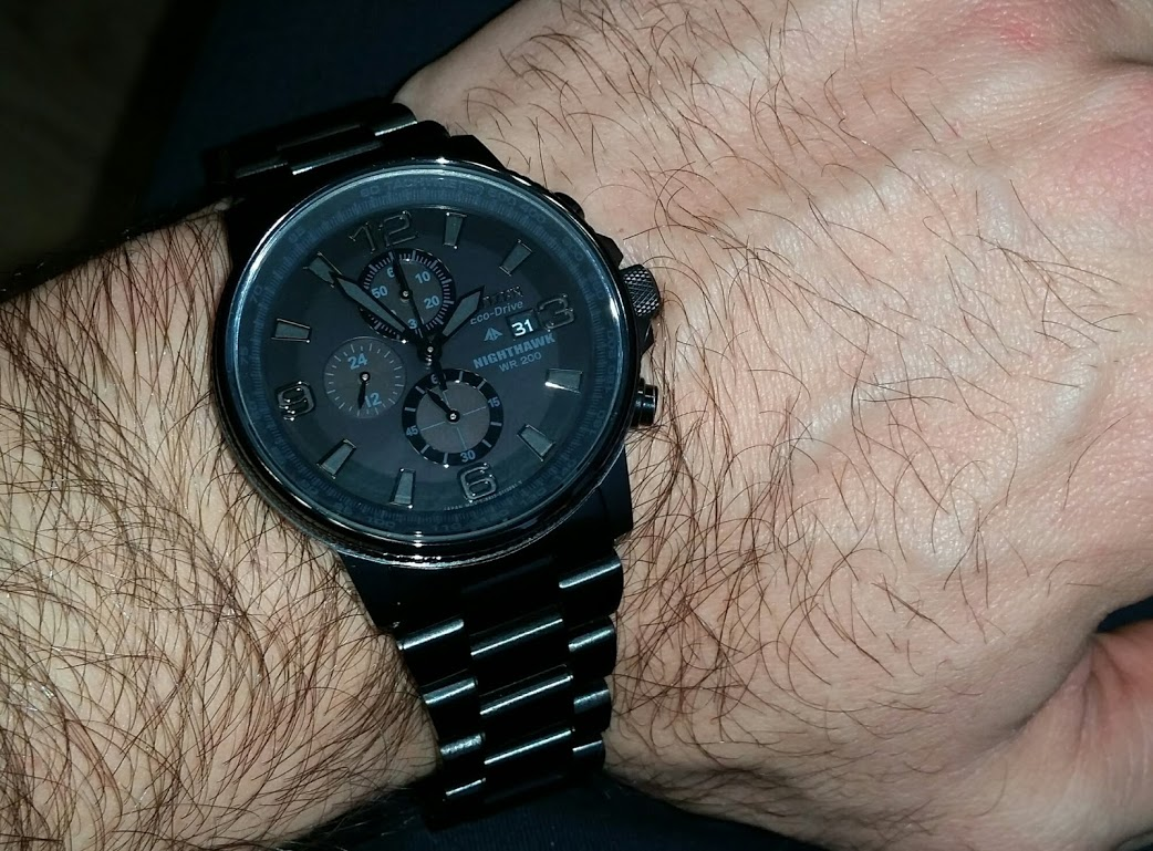 8309883db0b I was looking for a   black watch   which is at one hand very sporty and on  the other hand also elegant watch which I can wear with my dress. Citizen  ...