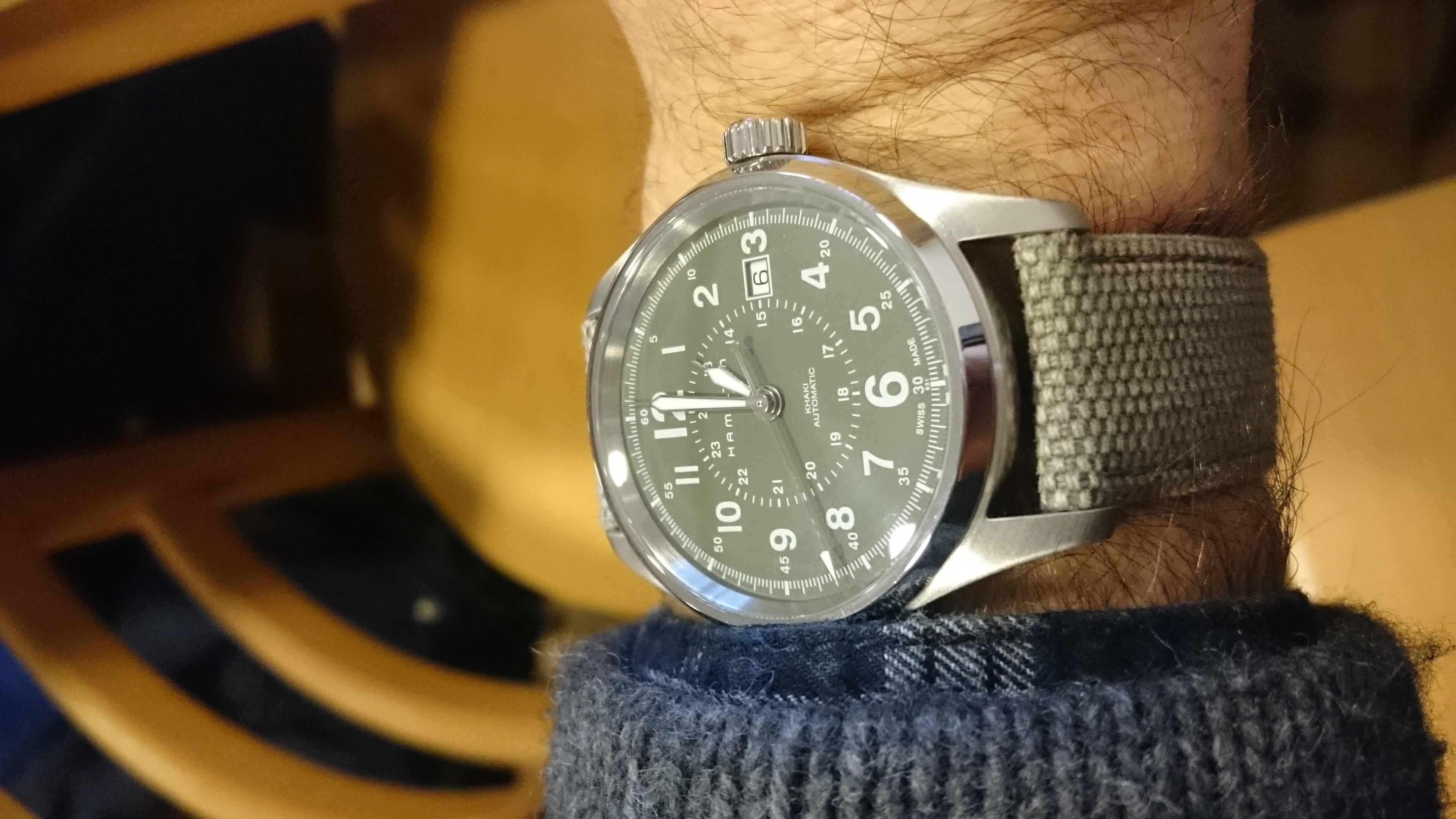 Mens Hamilton Khaki Field 40mm Automatic Watch H70595963