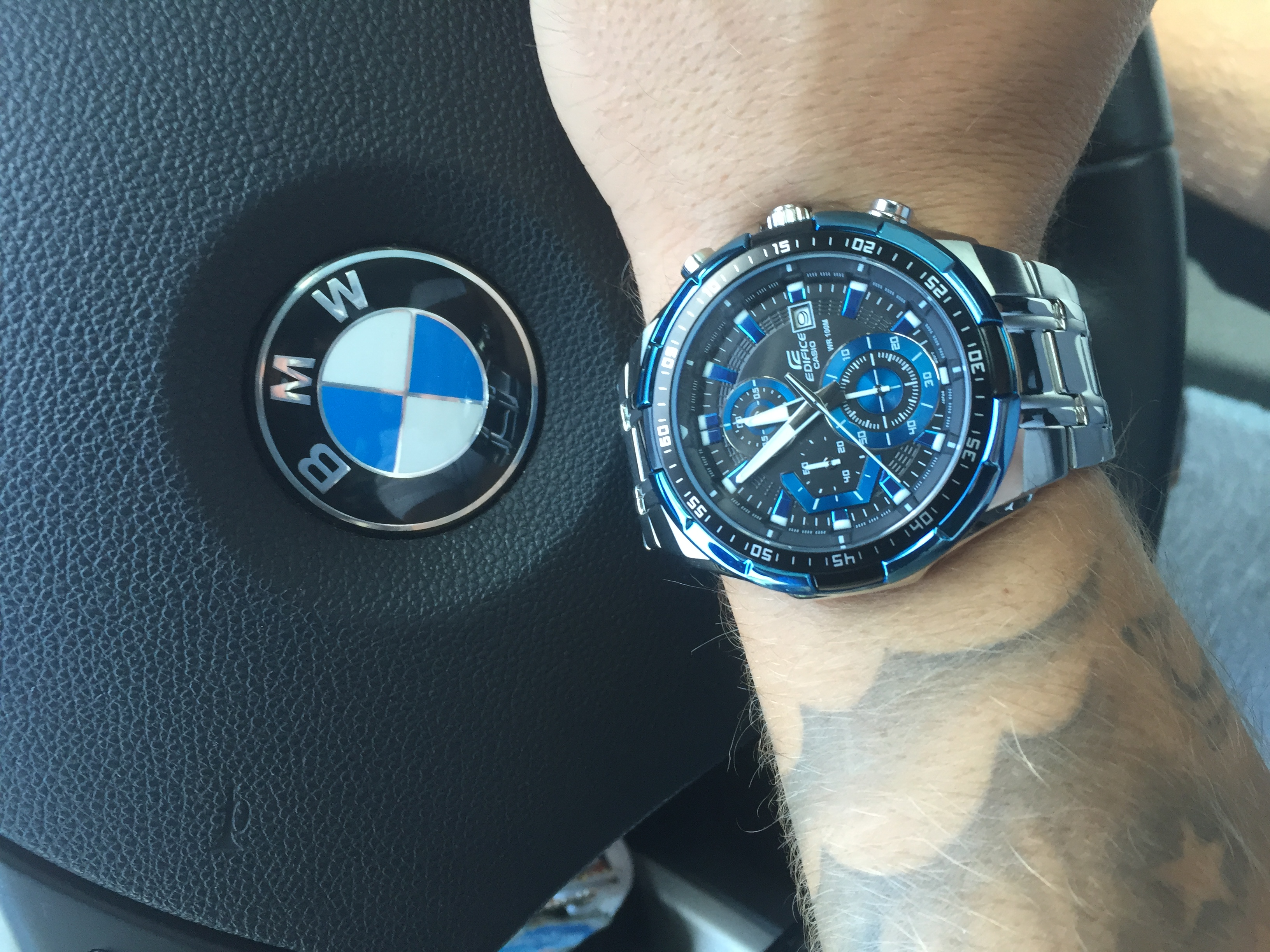 Great watch basic and smart just what I wanted. The blue really sets of the  face nicely! After having a few links taken out fits snugly on my wrist. 6932126b3