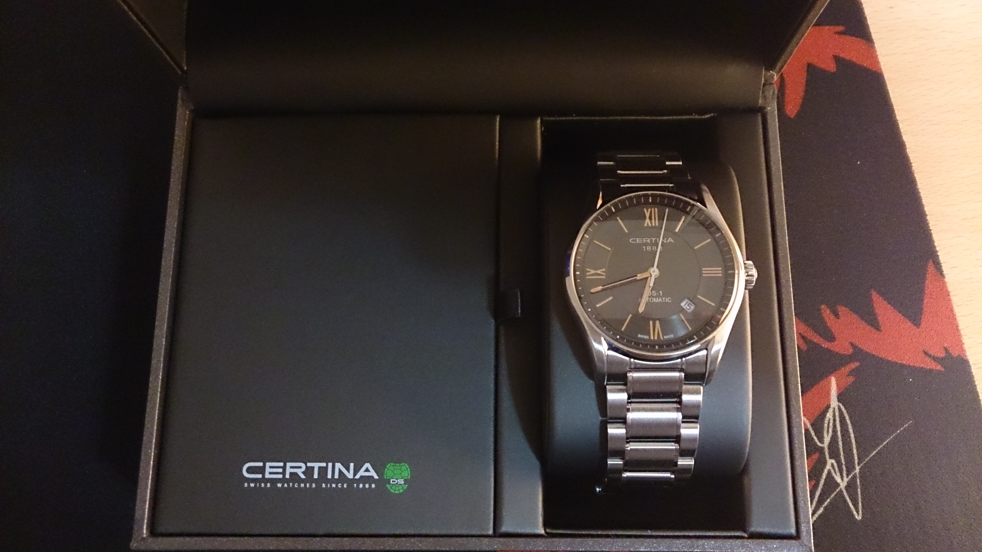 efe2e5b37 Where to start Mens Certina DS-1 Automatic Watch C0064071108801 made by the  Swiss company , is a beautiful watch is not many days had passed since the  day I ...
