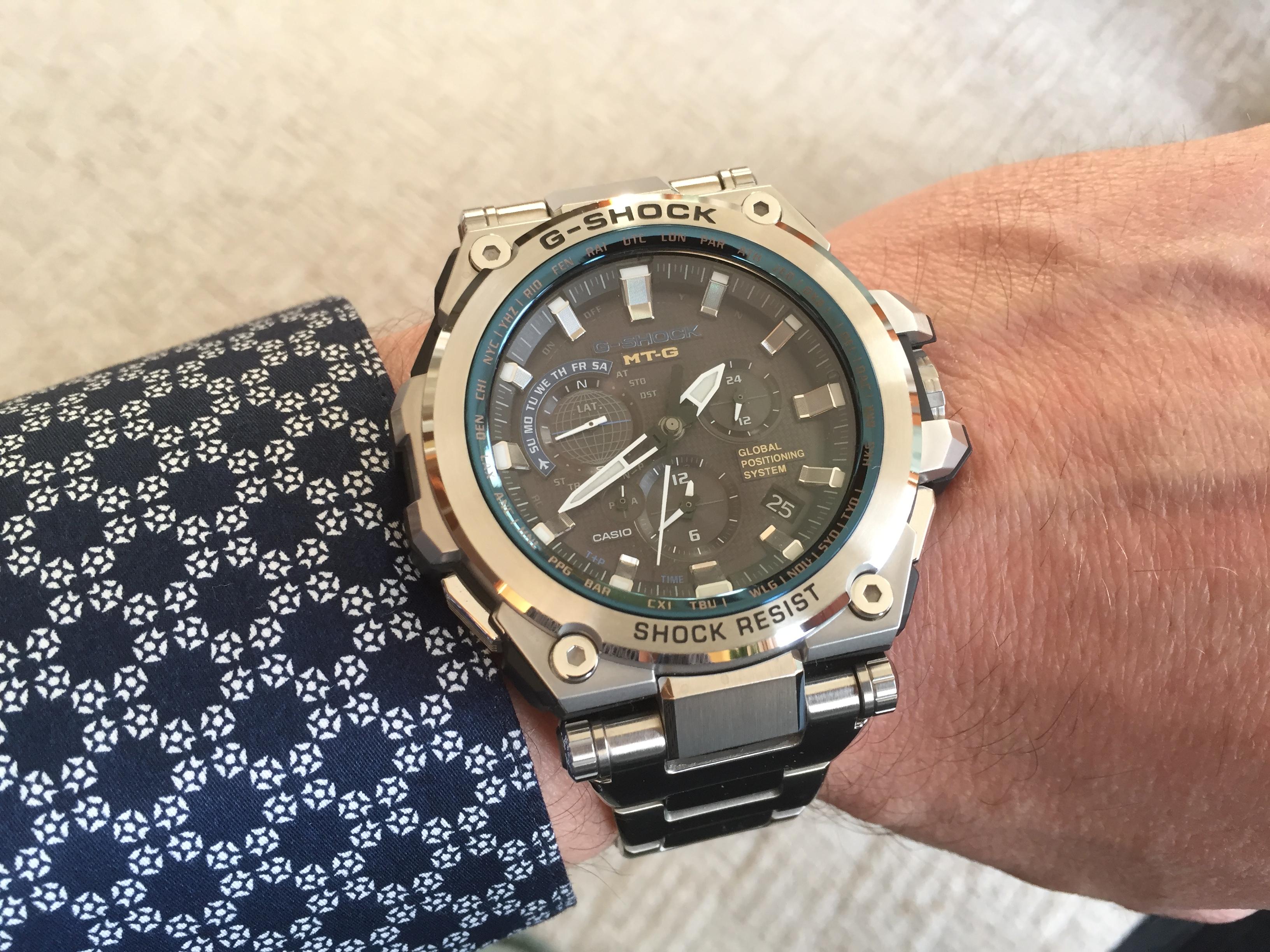 53d72b79a8b79 Gents Casio Premium G-Shock MT-G GPS Alarm Chronograph Watch (MTG ...