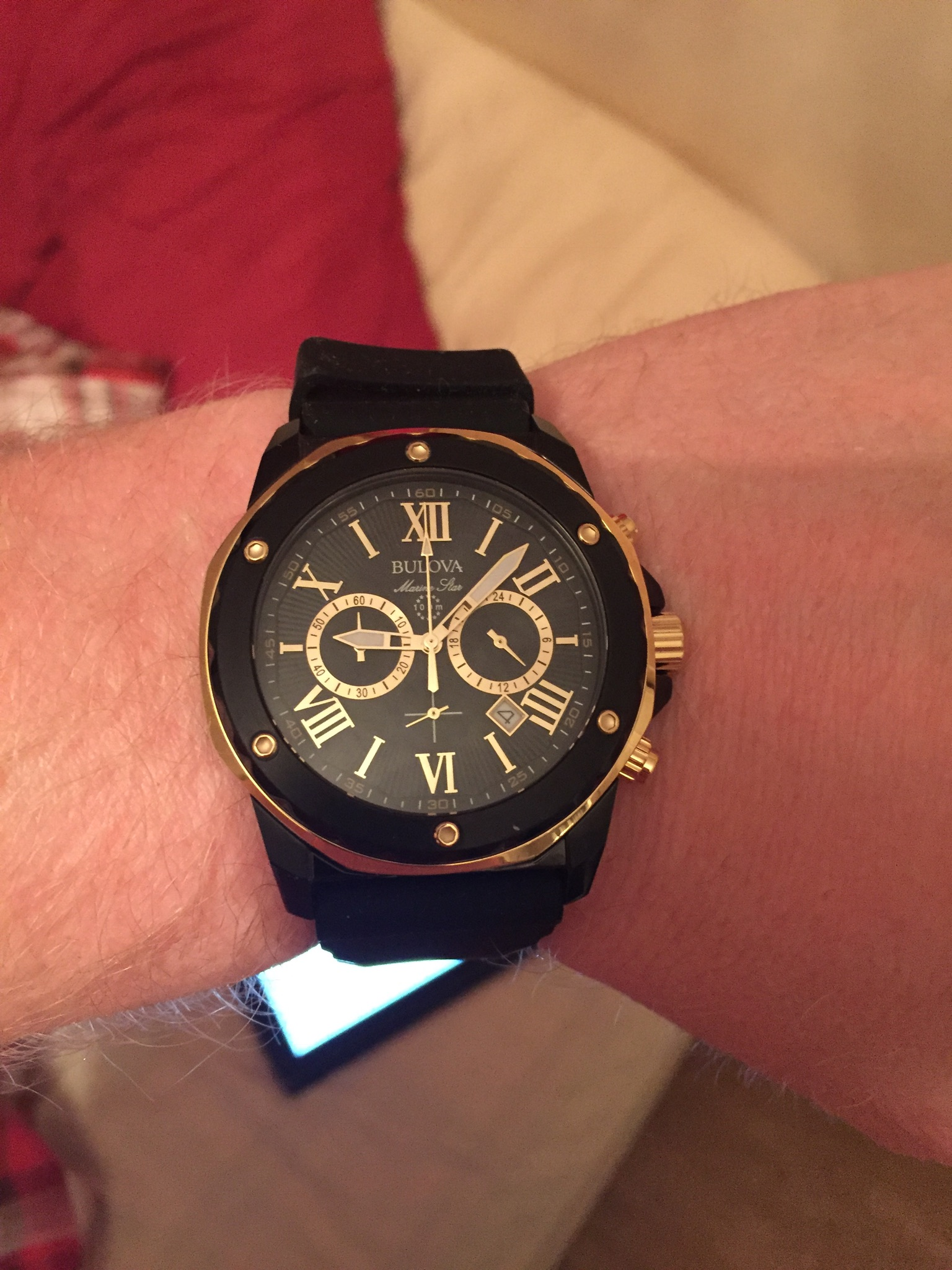 ebadffa53 Ive been eyeing up this watch for a while and decided to treat myself. Im  so glad I did. This watch is stunning. The black and gold combo works  together so ...