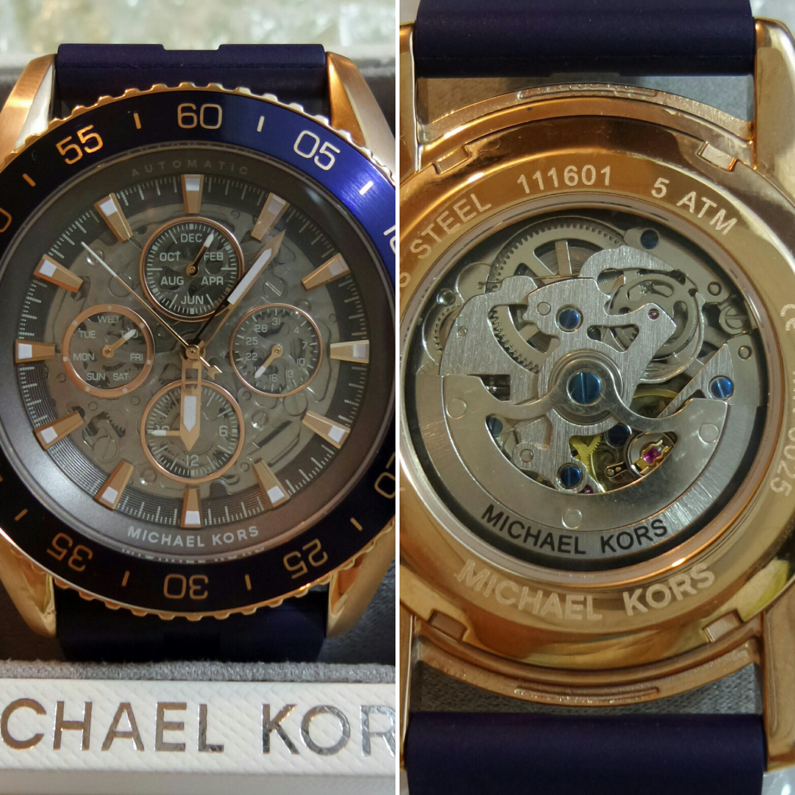 8563795d0a03 This watch is the perfect all rounder it can be worn casual or for a more  formal occasions. The rose gold case and blue strap complement each other  ...