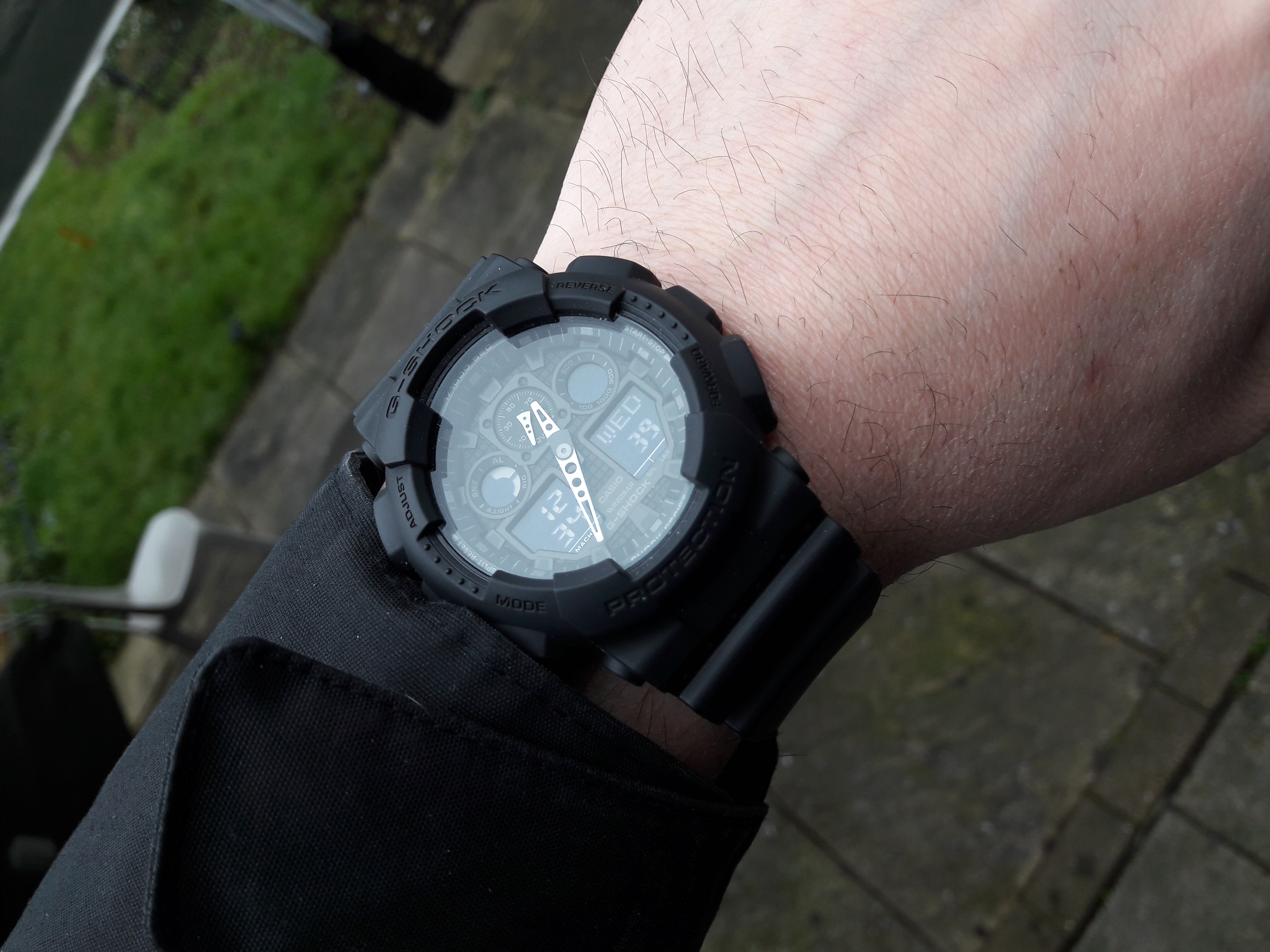 b6ec3e245d51d As always gshock serving great watch which make a job very well. All  condition -proof.Tough and reliable. Love black colour watches and thats is  great ...