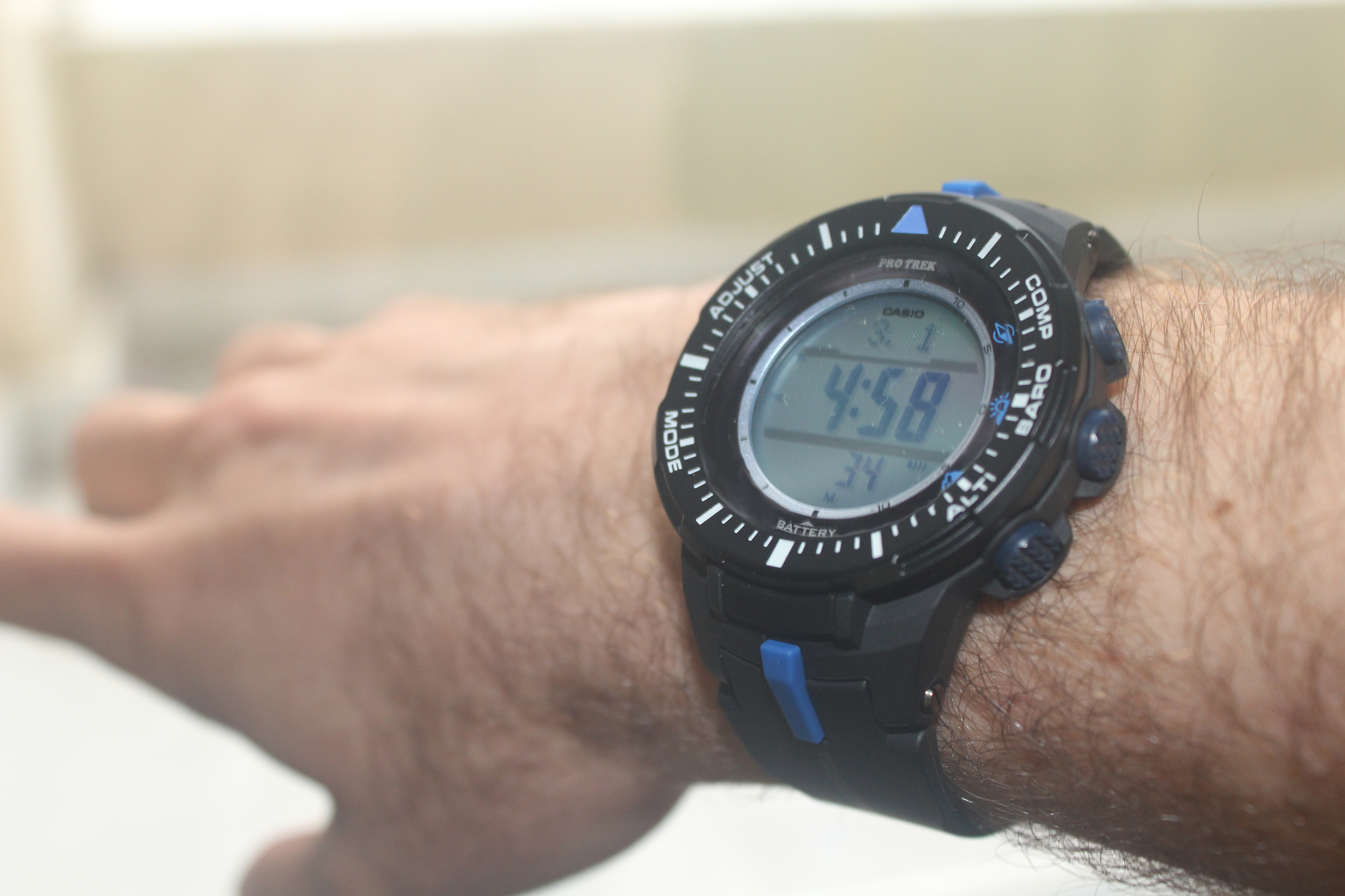 7ea2fac45caa The watch is the new entry of ProTrek series of Casio. The colors is as  shown on the default picture. It seems a little bigger in the photo than it  is ...