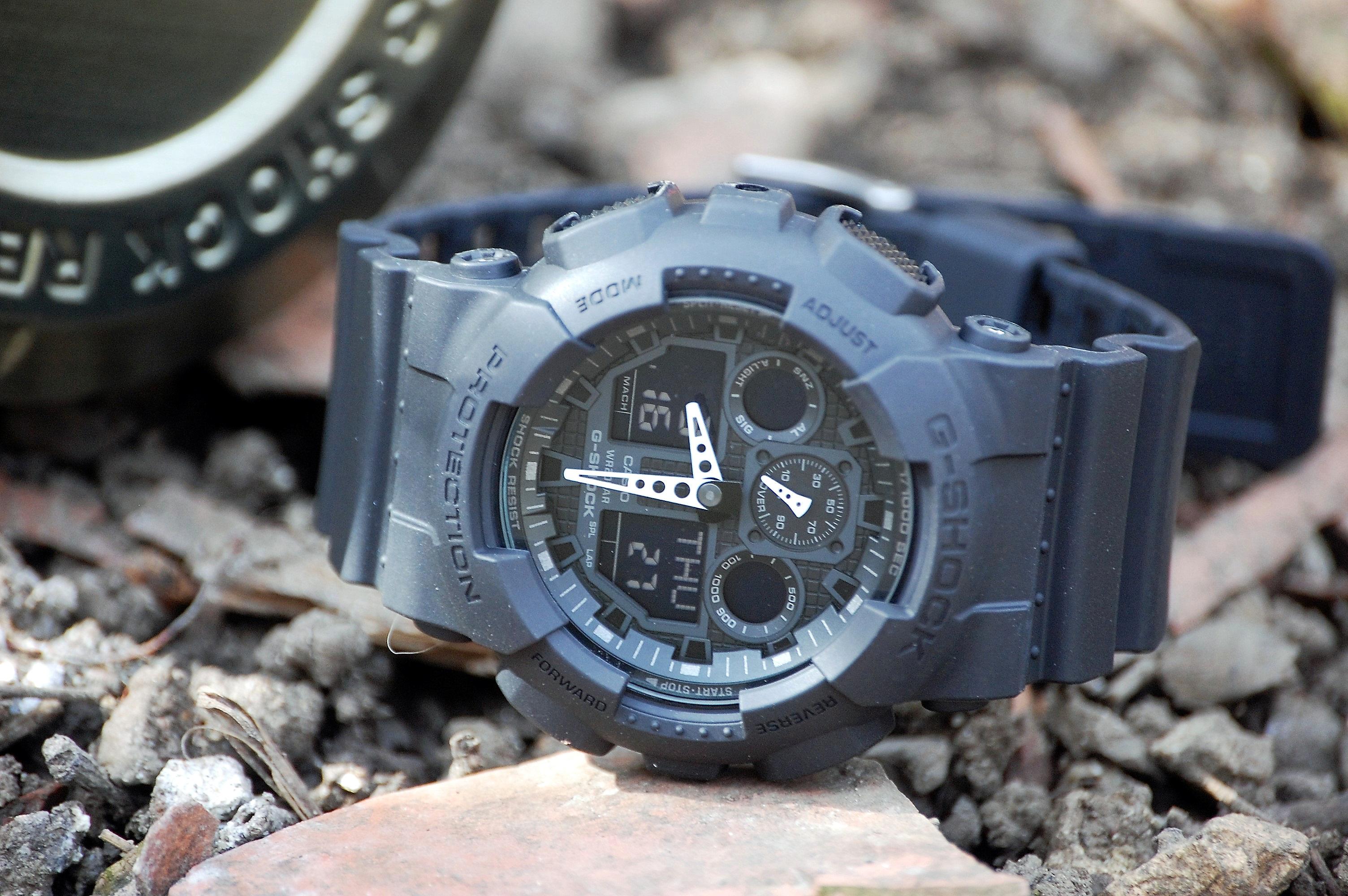 40694409b94 Gents Casio G-Shock Alarm Chronograph Watch (GA-100-1A1ER ...