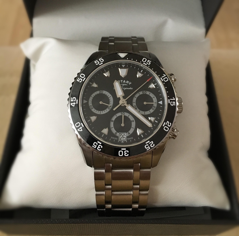 b07b78e95268 Gents Rotary Swiss Made Legacy Dive Quartz Chronograph Watch ...
