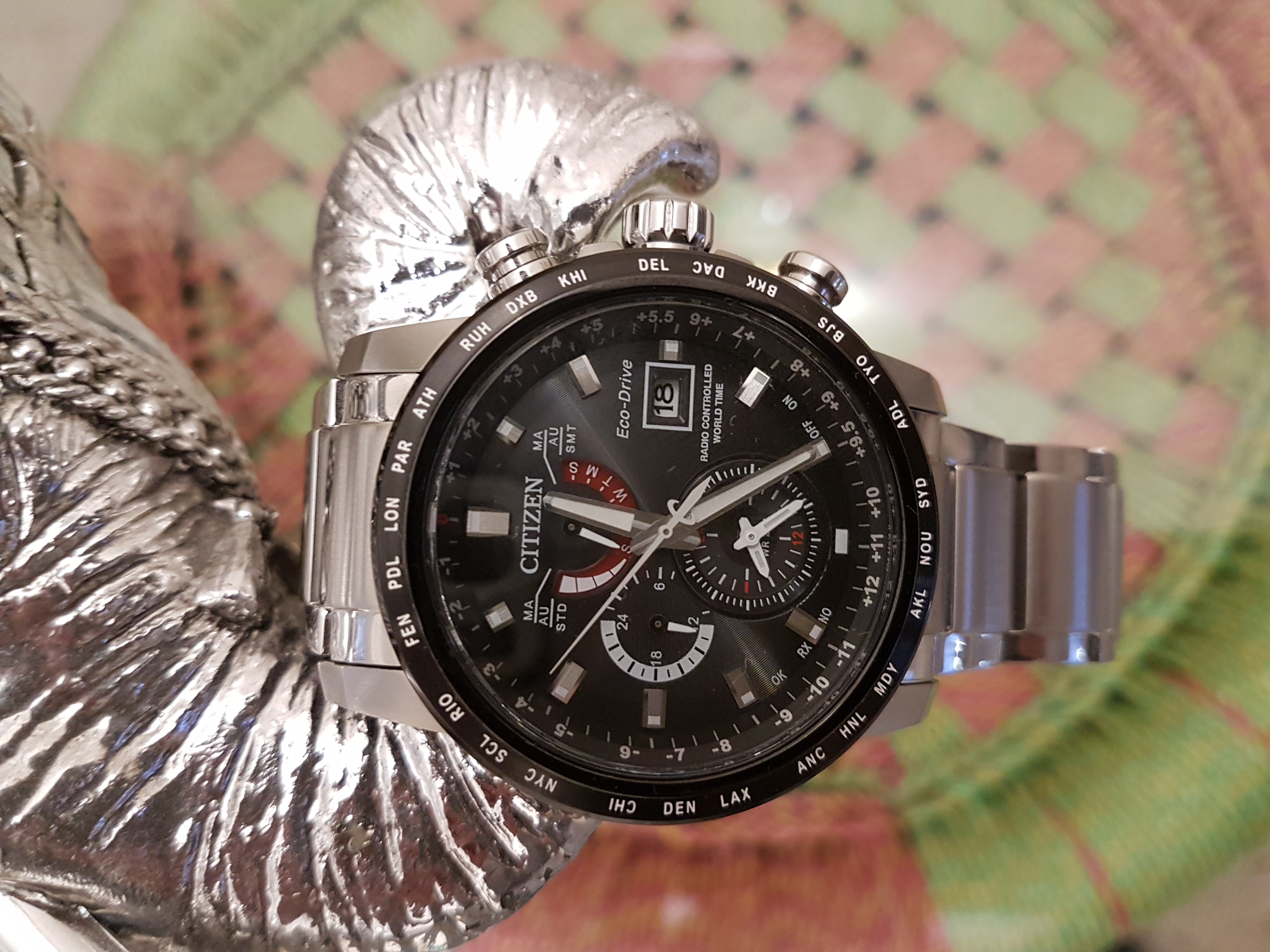 After searching around for a solar powered watch I came across this Citizen  world time eco drive AT9071-58E. Overall I am extremely pleased with this  ...