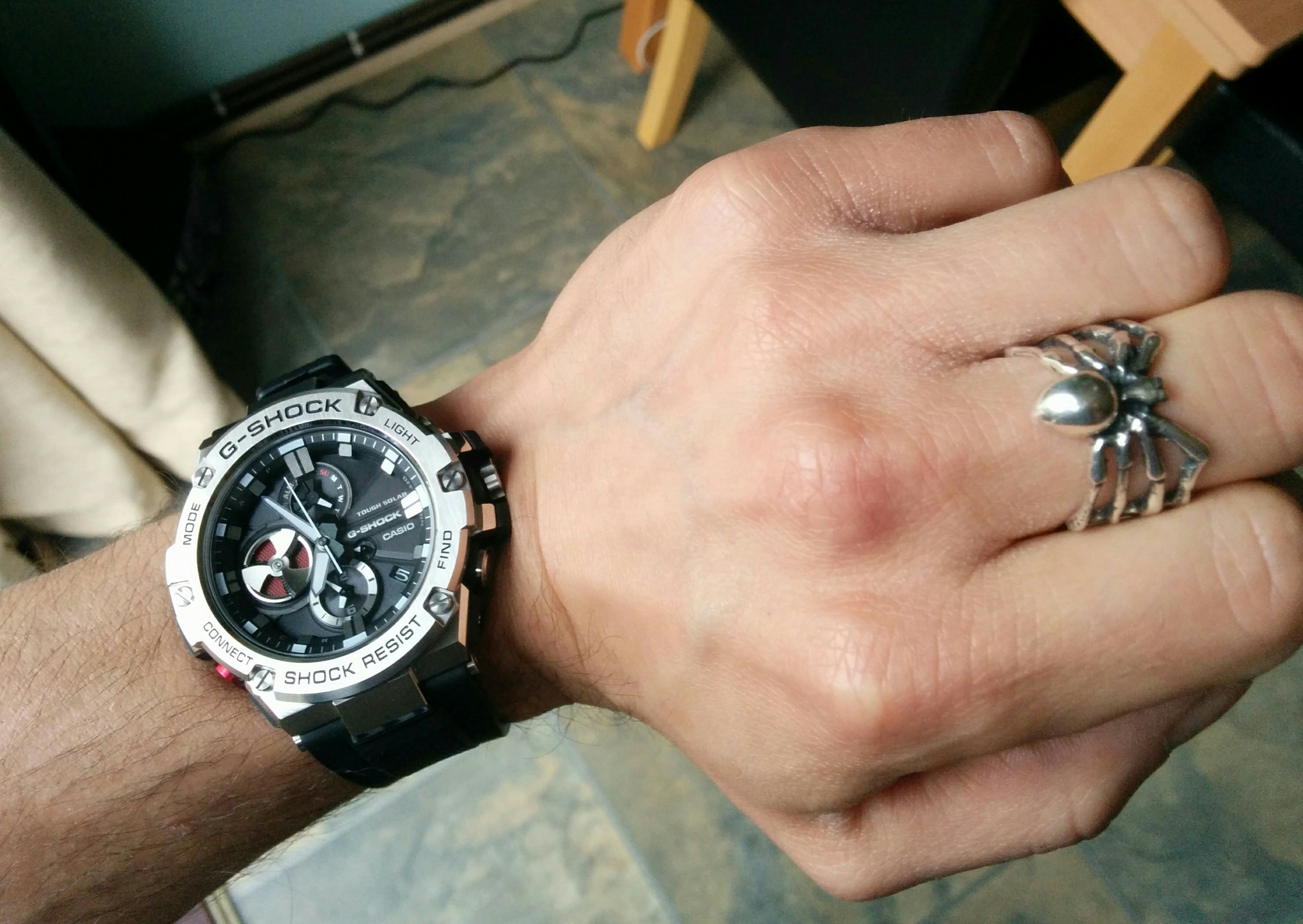 Montre Chronographe Homme Casio G Steel Bluetooth Triple  AXWTA