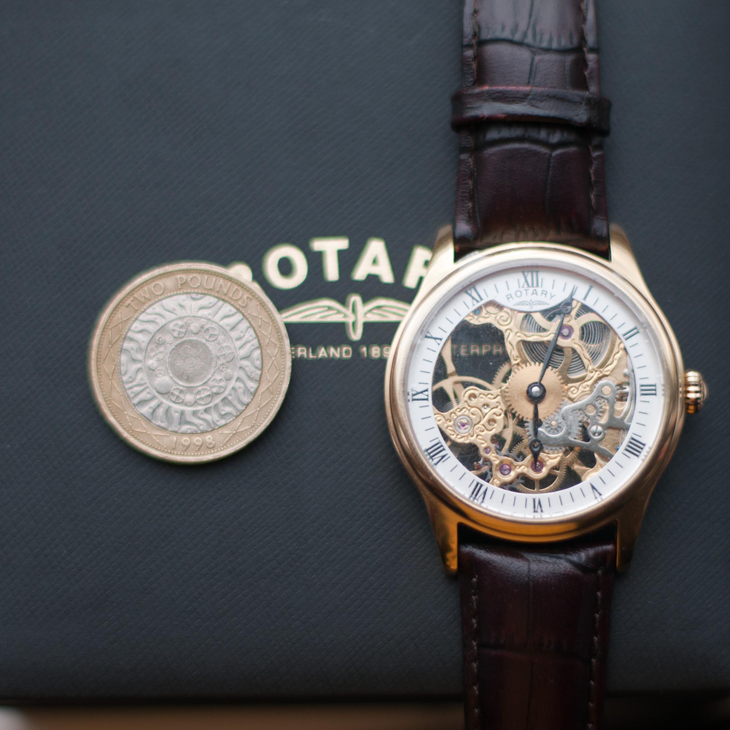 db1b0a1dd66a Gents Rotary Vintage Skeleton Watch (GS02520 03)