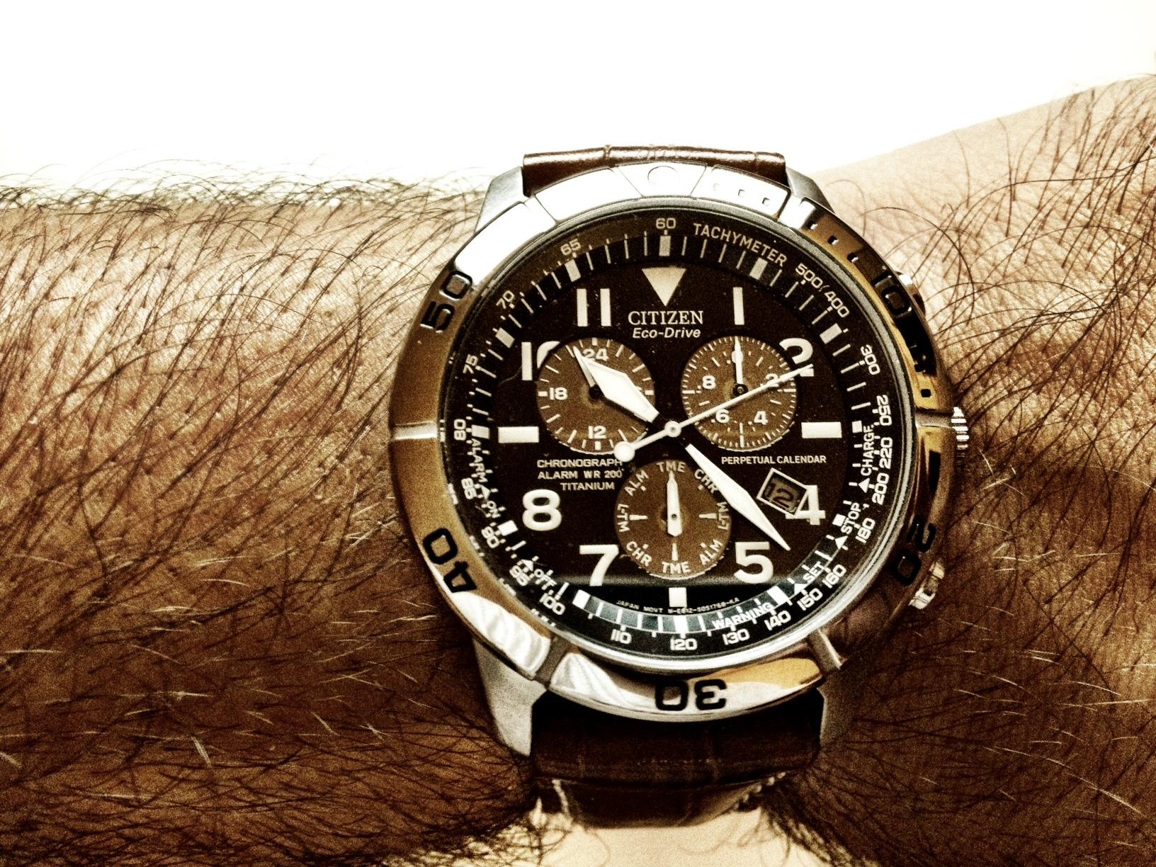 df1022579130 Gents Citizen Perpetual Calendar Alarm Chronograph Watch (BL5250-02L ...