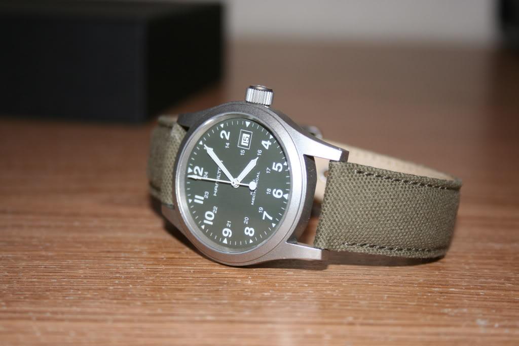 Gents Hamilton Khaki Officer Watch H69419363 Watchshop Com