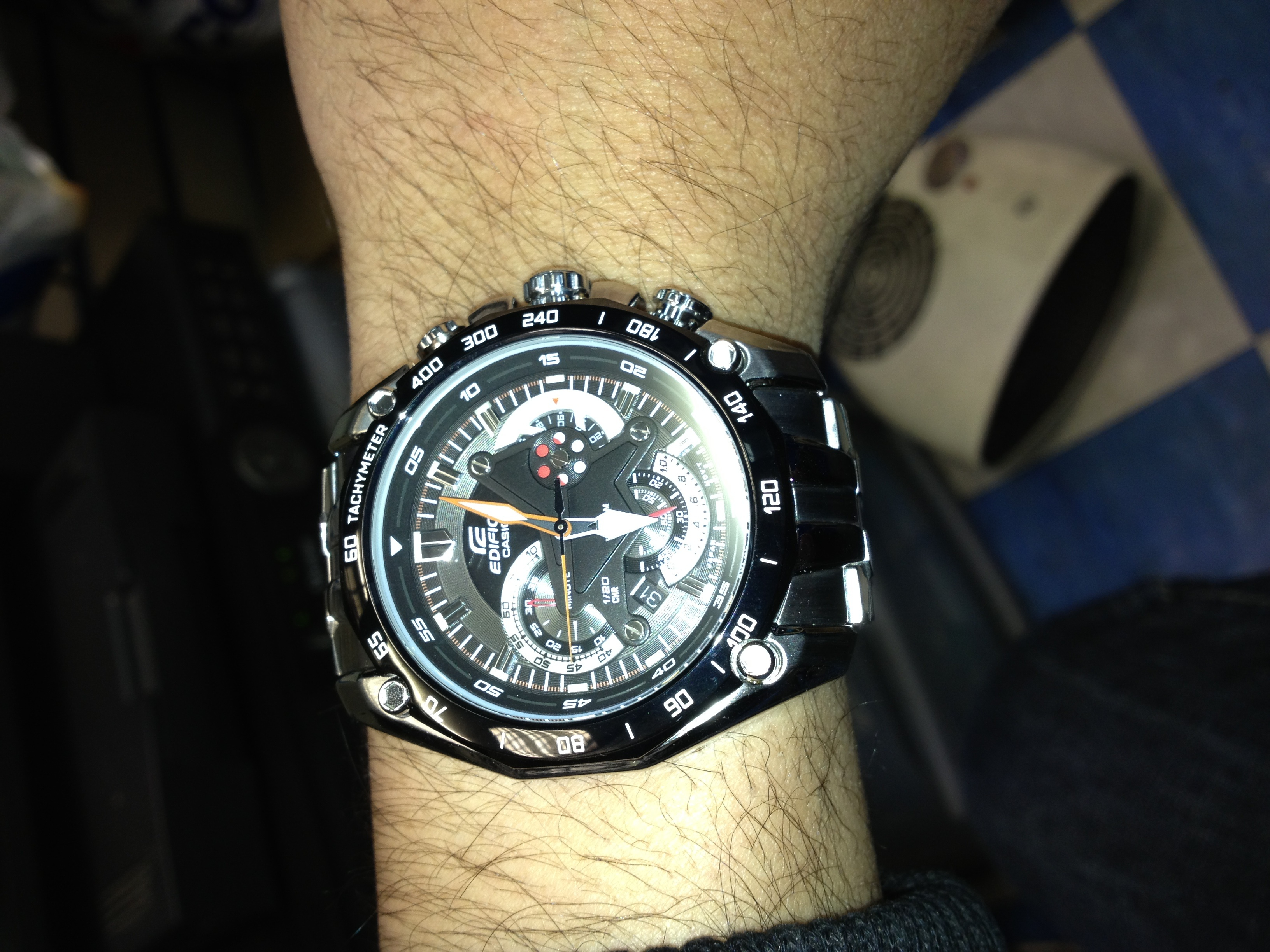 f7b1d6c4f Gents Casio Edifice Exclusive Chronograph Watch (EF-550D-1AVEF) |  WatchShop.com™