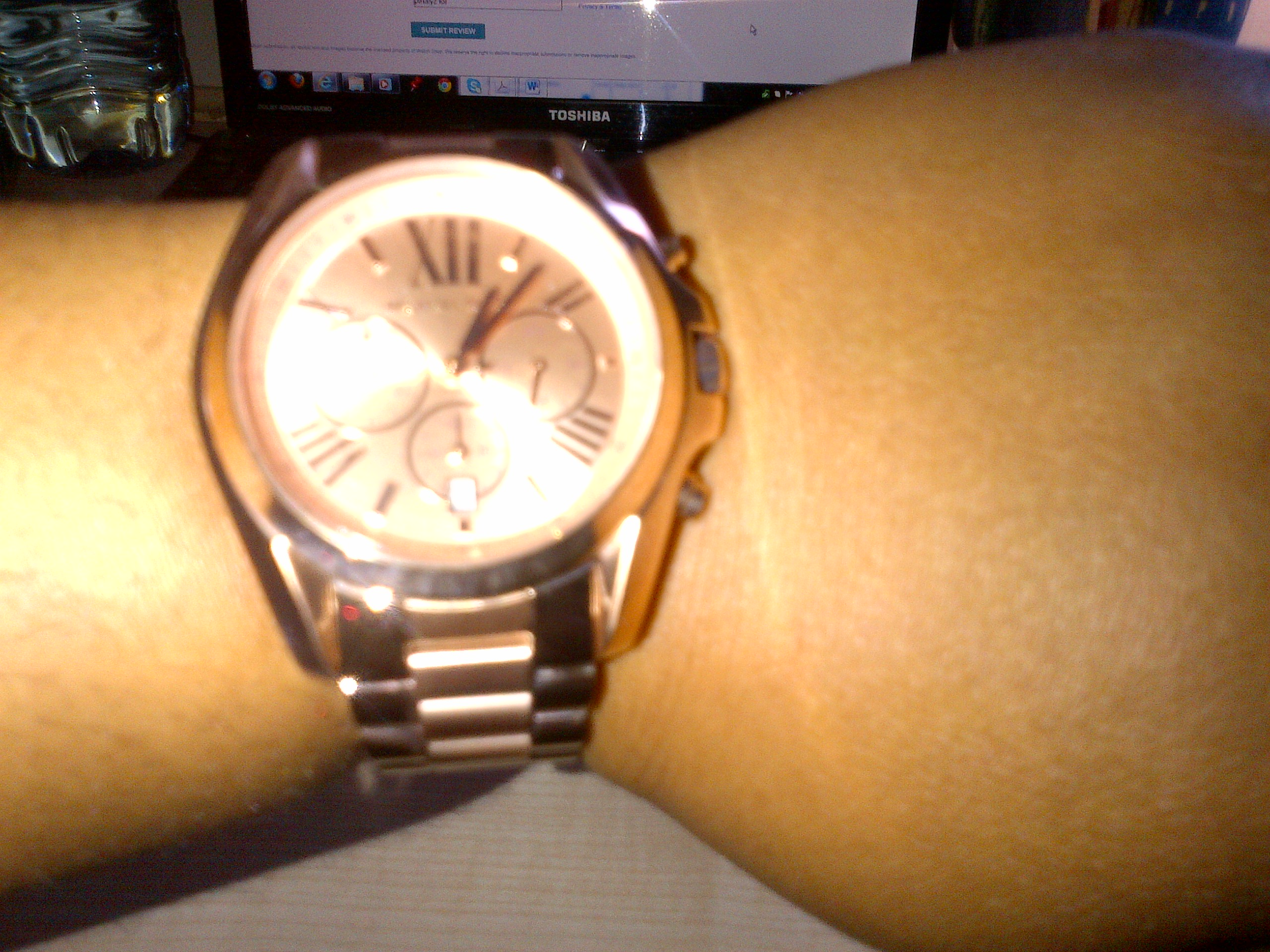 i michael kors watches gold new ladys rose parker crystallized watch
