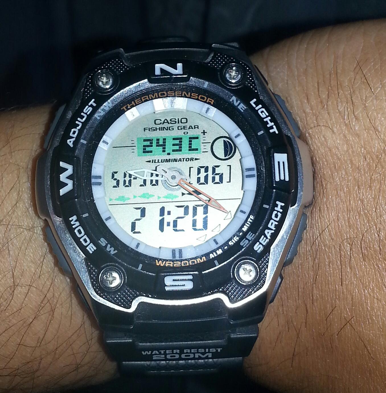Gents Casio Sports Alarm Chronograph Watch Aqw 101 1aver